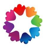 Logotipo de la gente de los niños del trabajo en equipo Imagen de archivo