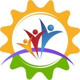 Logotipo de la gente del engranaje Fotos de archivo libres de regalías