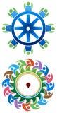 Logotipo de la gente del engranaje Fotos de archivo
