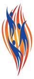 Logotipo de la gente del vuelo libre illustration