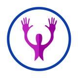Logotipo de la gente que cuida ilustración del vector