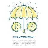 Logotipo de la gestión de riesgos Fotos de archivo libres de regalías