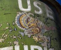 Logotipo de la harina de Turquía en Silo de los molinos de rodillo de Lehi en Utah fotografía de archivo libre de regalías