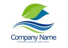 Logotipo de la hoja Foto de archivo