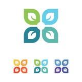 Logotipo de la hoja Imágenes de archivo libres de regalías