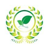 Logotipo de la hoja Imagenes de archivo