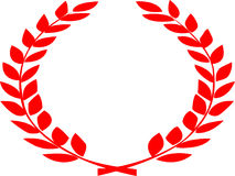 Logotipo de la hoja con la curva lateral doble Foto de archivo