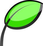 Logotipo de la hoja del vector Ilustración del Vector