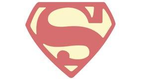 Logotipo 1968 de la hora S del superhombre-Aquaman imágenes de archivo libres de regalías