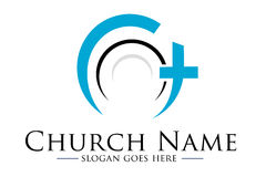 Logotipo de la iglesia Fotos de archivo libres de regalías