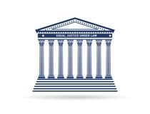 Logotipo de la imagen del edificio de la corte de la justicia