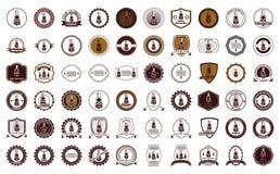 Logotipo de la insignia de la locomotora de vapor Fotos de archivo libres de regalías