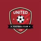 Logotipo de la insignia del fútbol del fútbol Imagenes de archivo