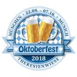 Logotipo de la insignia del vector de Oktoberfest 2018 Foto de archivo