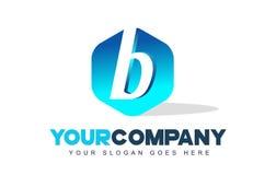 Logotipo de la letra de B Diseño moderno de la forma del hexágono ilustración del vector
