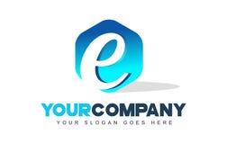Logotipo de la letra de E Diseño moderno de la forma del hexágono libre illustration
