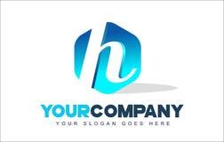 Logotipo de la letra de H Diseño moderno de la forma del hexágono ilustración del vector