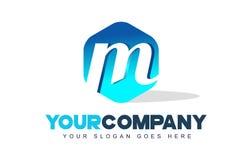 Logotipo de la letra de M Diseño moderno de la forma del hexágono libre illustration