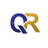 Logotipo de la letra de Qr stock de ilustración