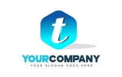 Logotipo de la letra de T Diseño moderno de la forma del hexágono libre illustration