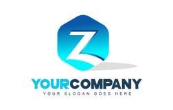 Logotipo de la letra de Z Diseño moderno de la forma del hexágono stock de ilustración
