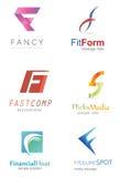 Logotipo de la letra F Fotografía de archivo