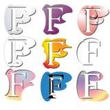 Logotipo de la letra F Imagen de archivo libre de regalías