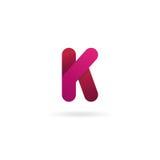 Logotipo de la letra K Plantilla del diseño del icono del vector muestra del color Imagen de archivo