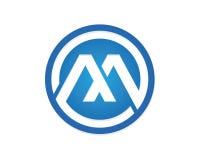 Logotipo de la letra de M Foto de archivo libre de regalías