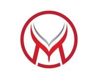Logotipo de la letra de M Fotografía de archivo
