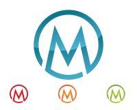 Logotipo de la letra de M Fotos de archivo libres de regalías