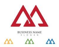 Logotipo de la letra de M Imagen de archivo libre de regalías