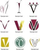 Logotipo de la letra V ilustración del vector