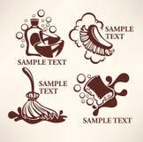 Logotipo de la limpieza ilustración del vector