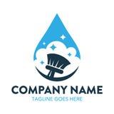 Logotipo de la limpieza y del mantenimiento stock de ilustración