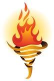 Logotipo de la llama de la antorcha stock de ilustración