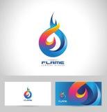 Logotipo de la llama del fuego stock de ilustración