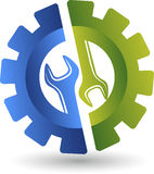 Logotipo de la llave inglesa de la rueda Fotografía de archivo