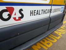 Logotipo de la logística de la atención sanitaria de la ambulancia de G4S Imagenes de archivo