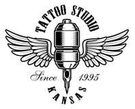 Logotipo de la máquina del tatuaje Fotografía de archivo