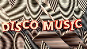 Logotipo de la música del disco en rayas Ilustración del Vector