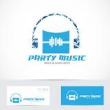 Logotipo de la música del partido ilustración del vector