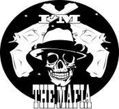Logotipo de la mafia con el cráneo 1 Imagen de archivo