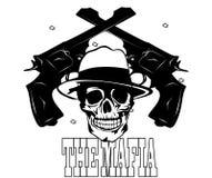 Logotipo de la mafia con el cráneo 2 Imagen de archivo libre de regalías
