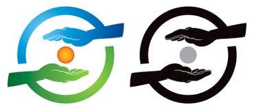 Logotipo de la mano libre illustration