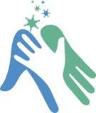 Logotipo de la mano amiga