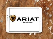 Logotipo de la marca de Ariat Foto de archivo