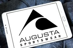 Logotipo de la marca de Augusta Sportswear imágenes de archivo libres de regalías