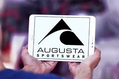 Logotipo de la marca de Augusta Sportswear fotos de archivo