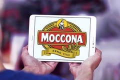 Logotipo de la marca del café de Moccona Fotos de archivo libres de regalías